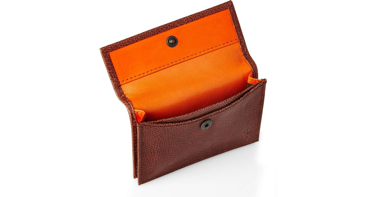 Lyst - Cole Haan Brown Greenwich Snap Card Case in Brown for Men
