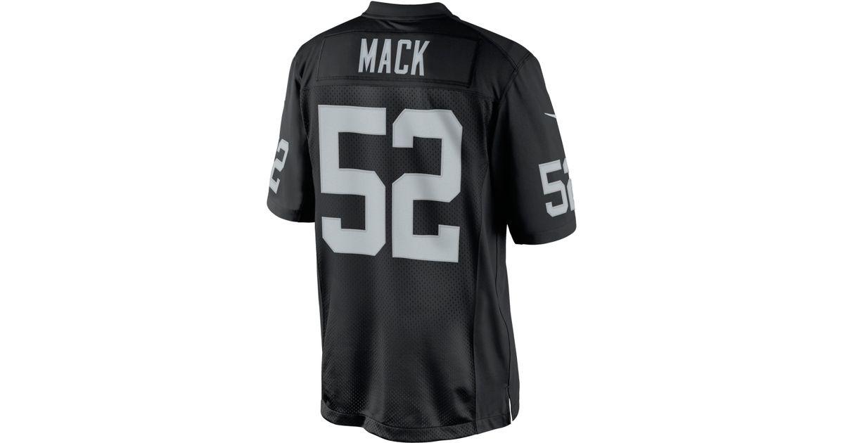 14104d8b850 cheap lyst nike mens khalil mack oakland raiders limited jersey in black  for men 964a0 29f7f