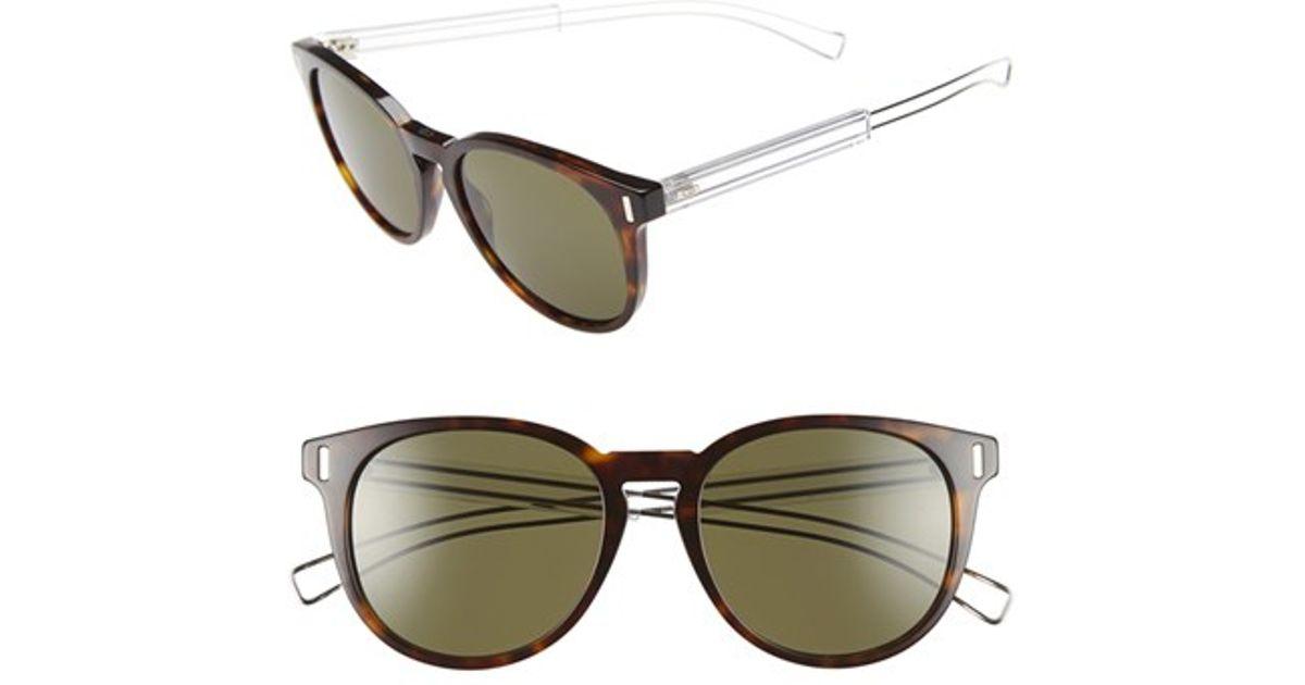 47b725210 Lyst - Dior Homme 'black Tie' 54mm Retro Sunglasses - Havana Palladium/  Green in Green for Men