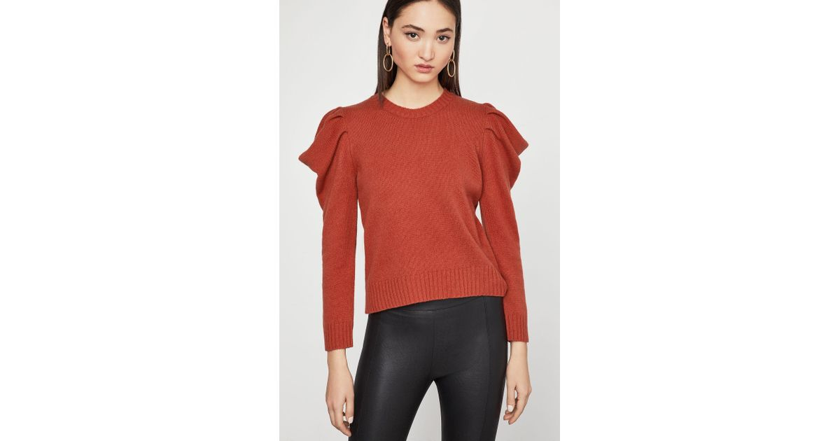 e1b89143bad767 BCBGMAXAZRIA Bcbg Draped Sleeve Sweater - Lyst