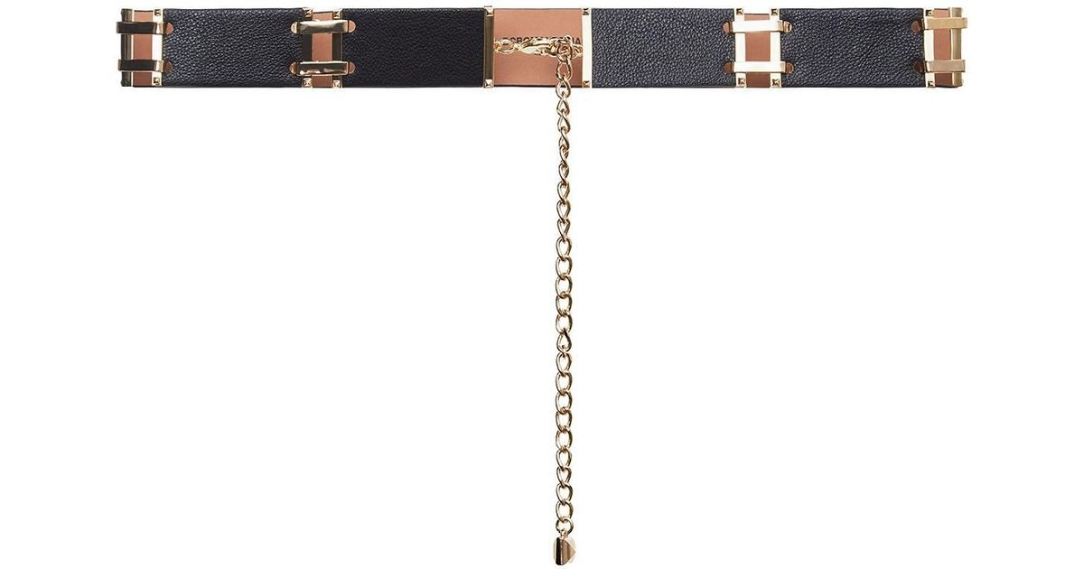 this black and brown chain belt is one of the essential belts
