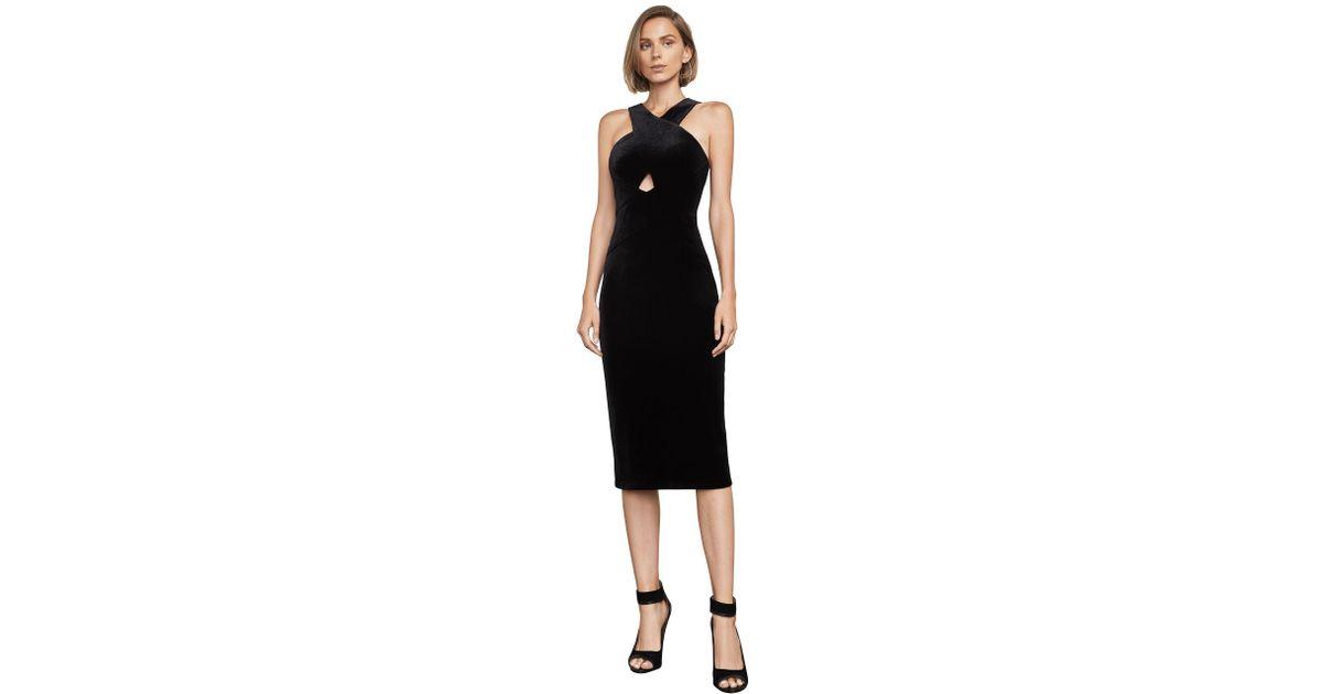 083da98c78 BCBGMAXAZRIA Bcbg Maren Velvet Halter Dress in Black - Lyst