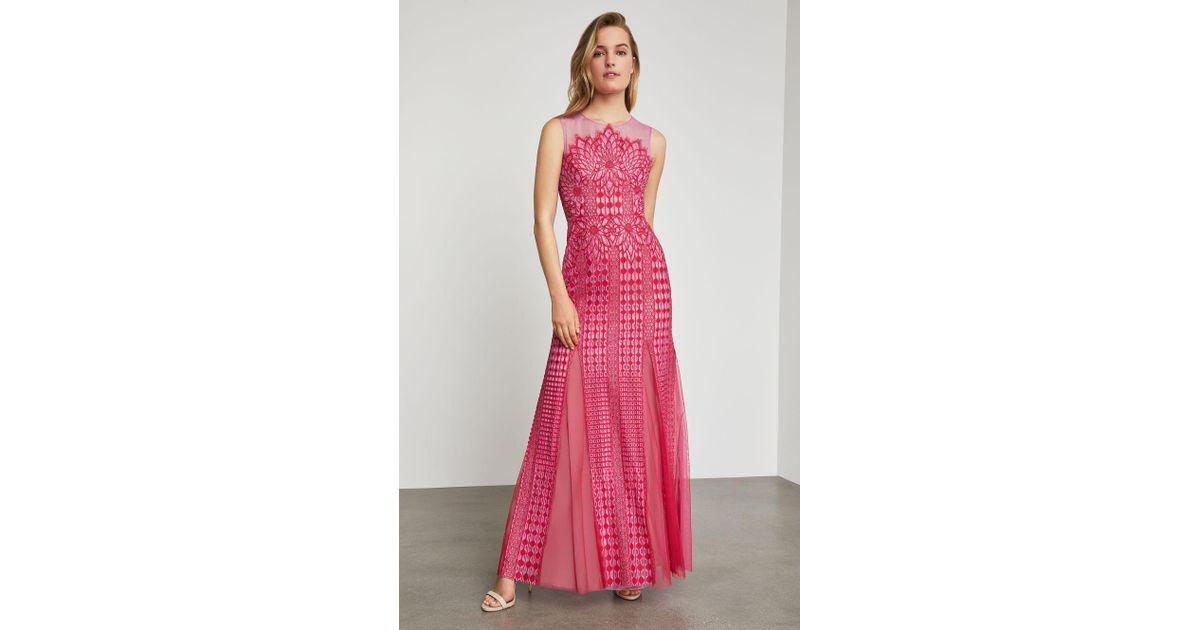 15fc27706181 BCBGMAXAZRIA Bcbg Elinor Sleeveless Lace Gown in Pink - Lyst