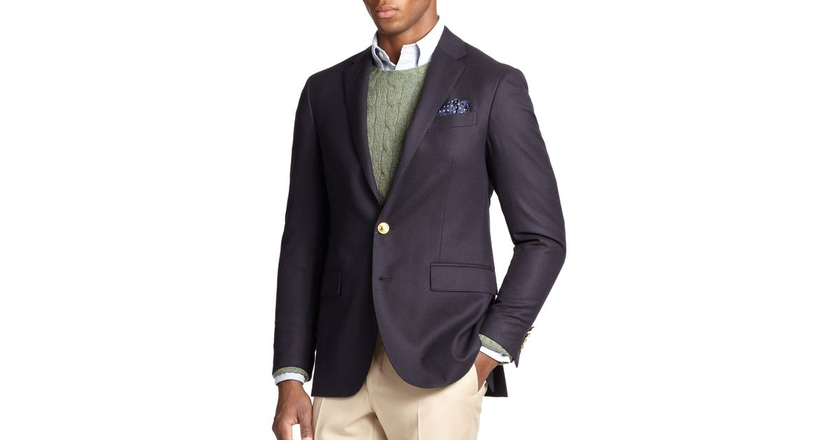 polo ralph lauren polo doeskin blazer in blue for men lyst. Black Bedroom Furniture Sets. Home Design Ideas