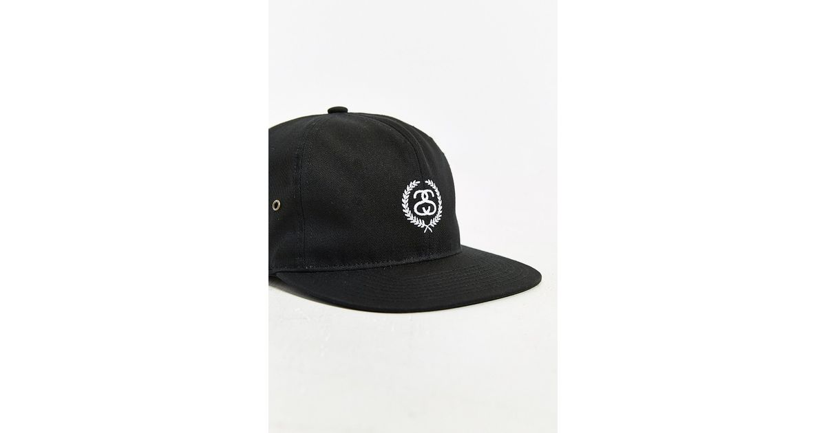 b8955fdb Stussy Ss Wreath Strapback Hat in Black for Men - Lyst