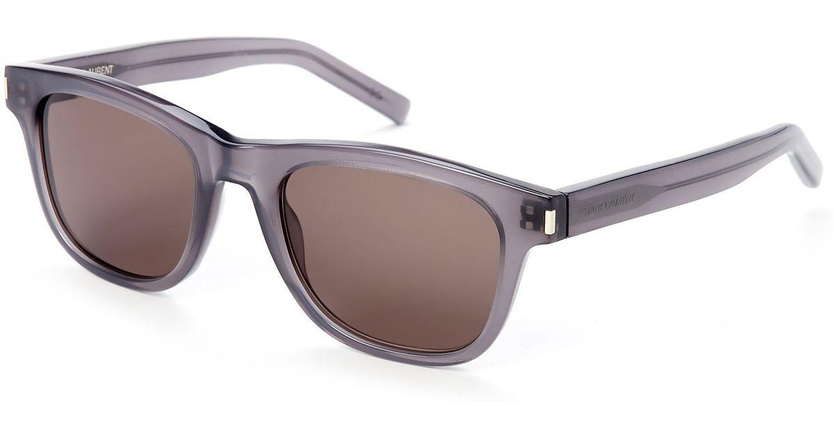aa9ce3e26c8 Saint Laurent Classic 2 Type J Grey Wayfarer Sunglasses in Gray for Men -  Lyst
