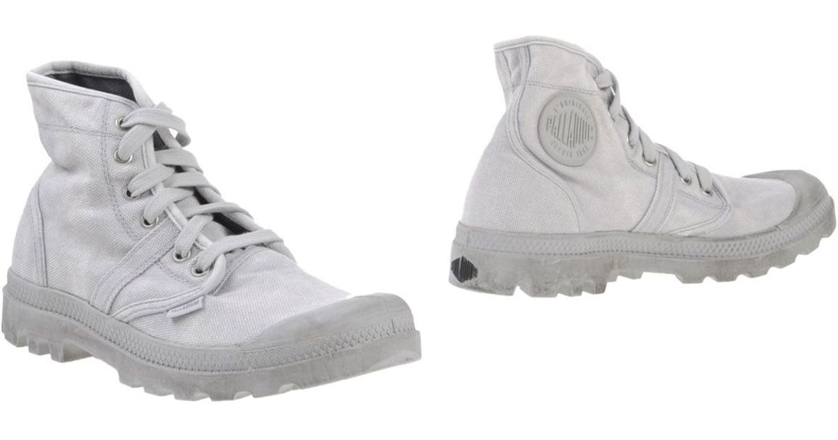 Awesome Grey Palladium Ankle Boots Pallabrouse D Palladium