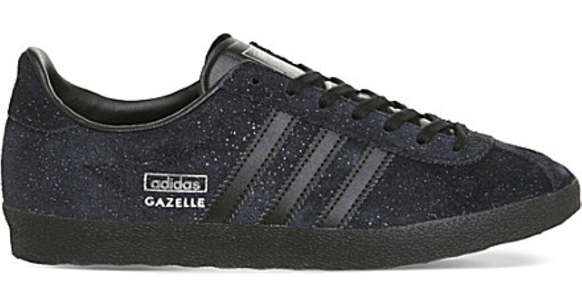 online retailer 9b771 22d35 adidas Originals Gazelle Og Suede Trainers in Black - Lyst