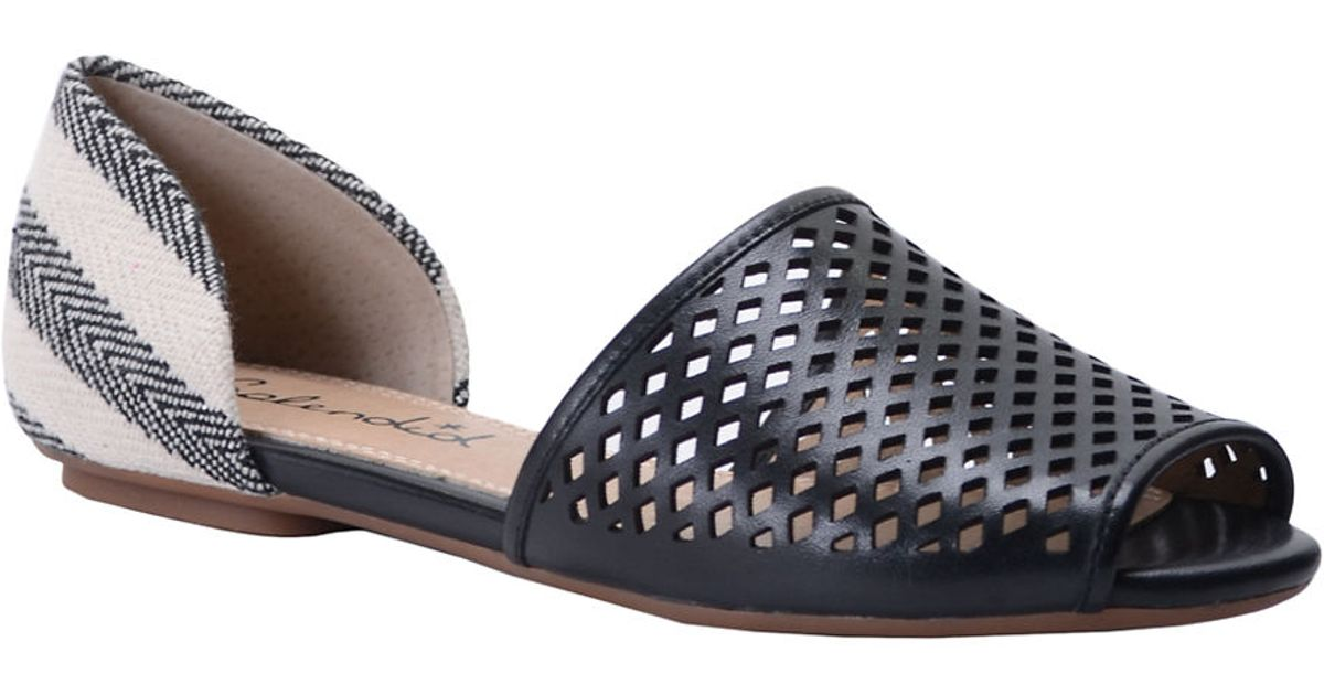 20a5a8346 Lyst - Splendid Addisan Leather D Orsay Flats in Black