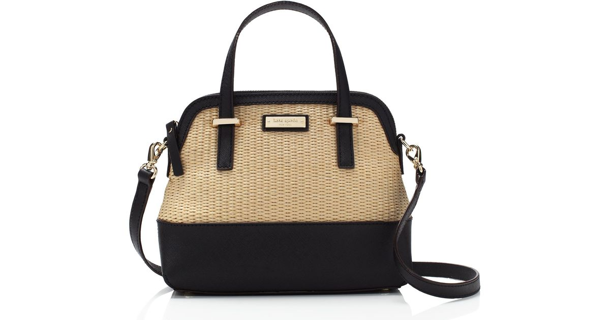 Lyst Kate Spade New York Cedar Street Straw Small Maise in Black