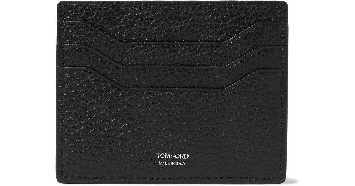 Ford la Tom Negro Titular tarjeta de cuero de 0XYqw