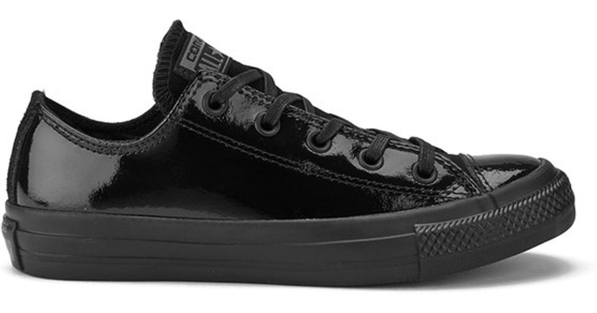 1ff76396c25d Converse Women s Chuck Taylor All Star Patent Leather Ox Trainers in Black  for Men - Lyst