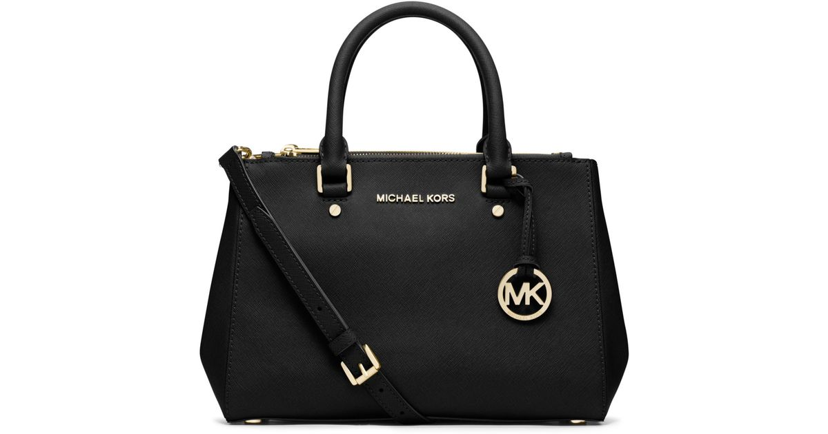082870ad3829 ... order lyst michael kors sutton small saffiano leather satchel in black  3b126 94078