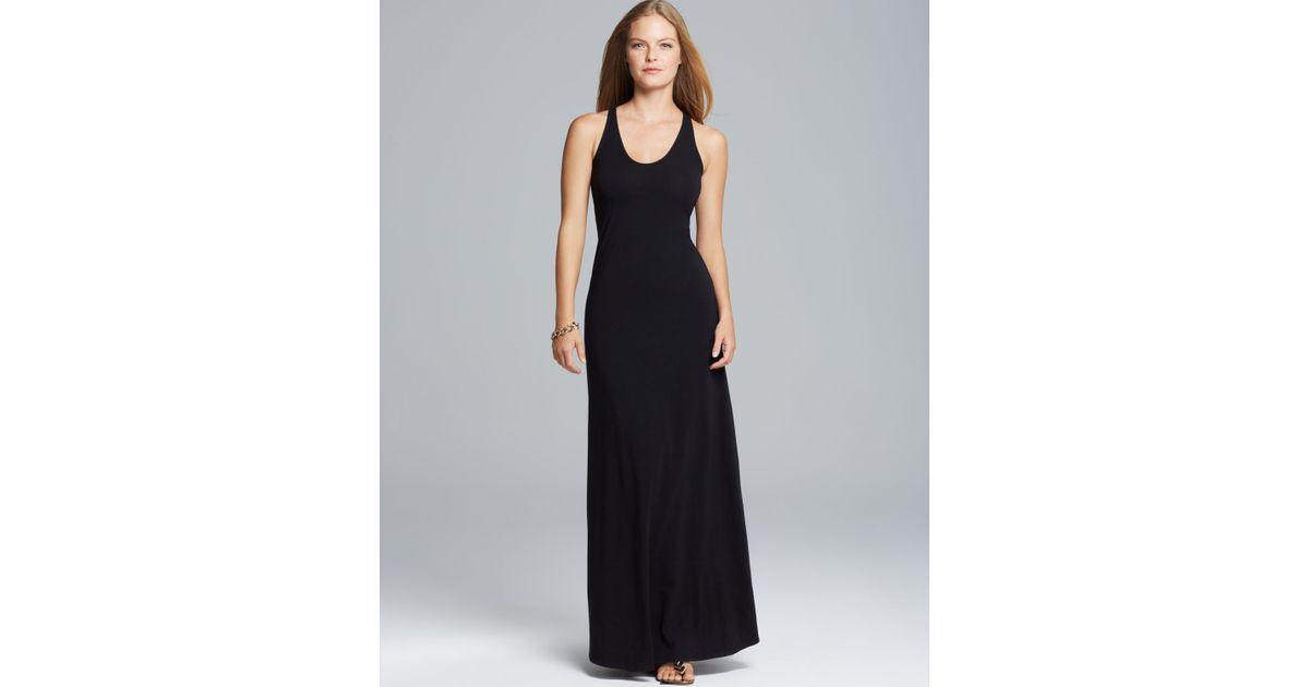 Lyst Splendid Maxi Dress Racerback Jersey In Black