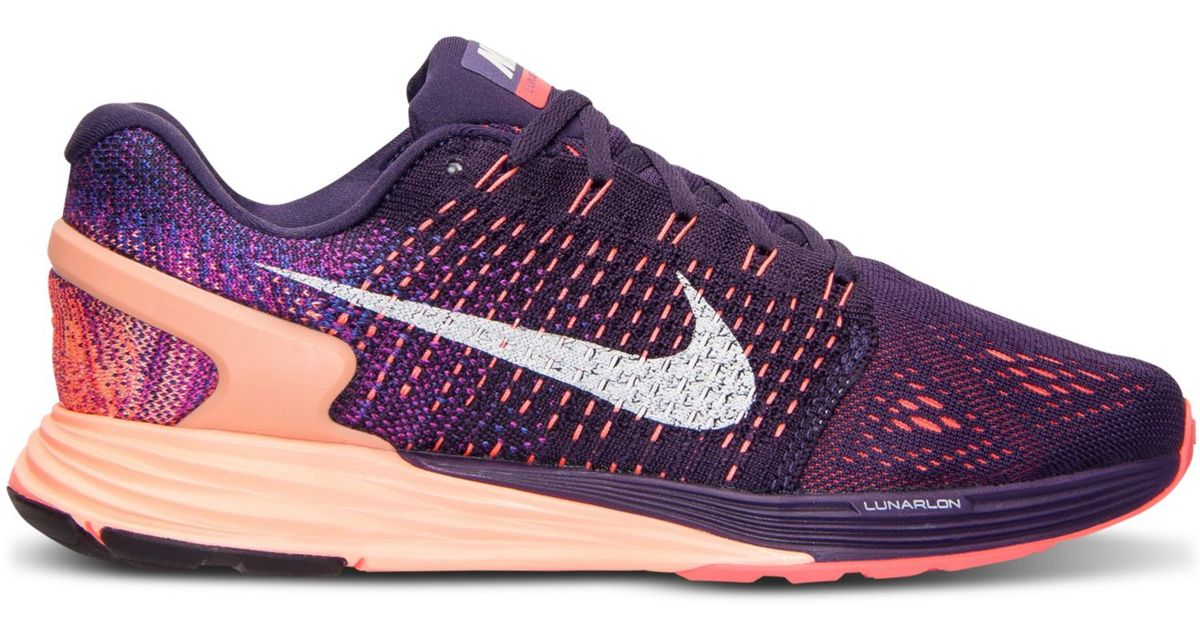 4a8a2255c6e4 Lyst - Nike Women s Lunarglide 7 Running Sneakers From Finish Line in Purple