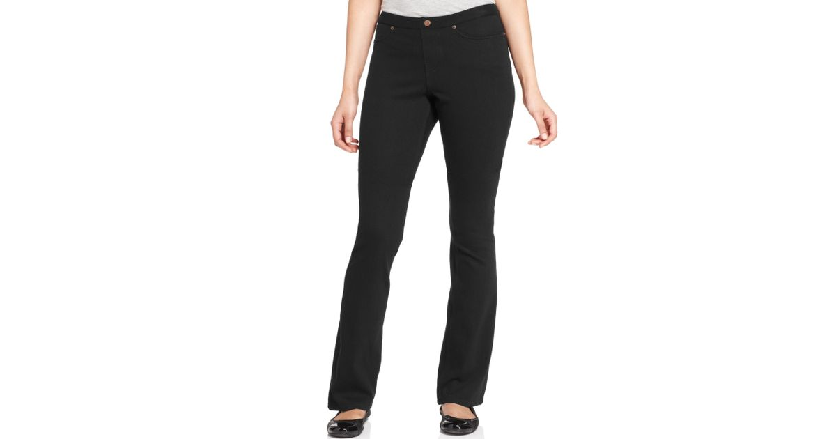 39eb2106e6462 Hue Original Jeans Boot Cut Leggings in Black - Lyst