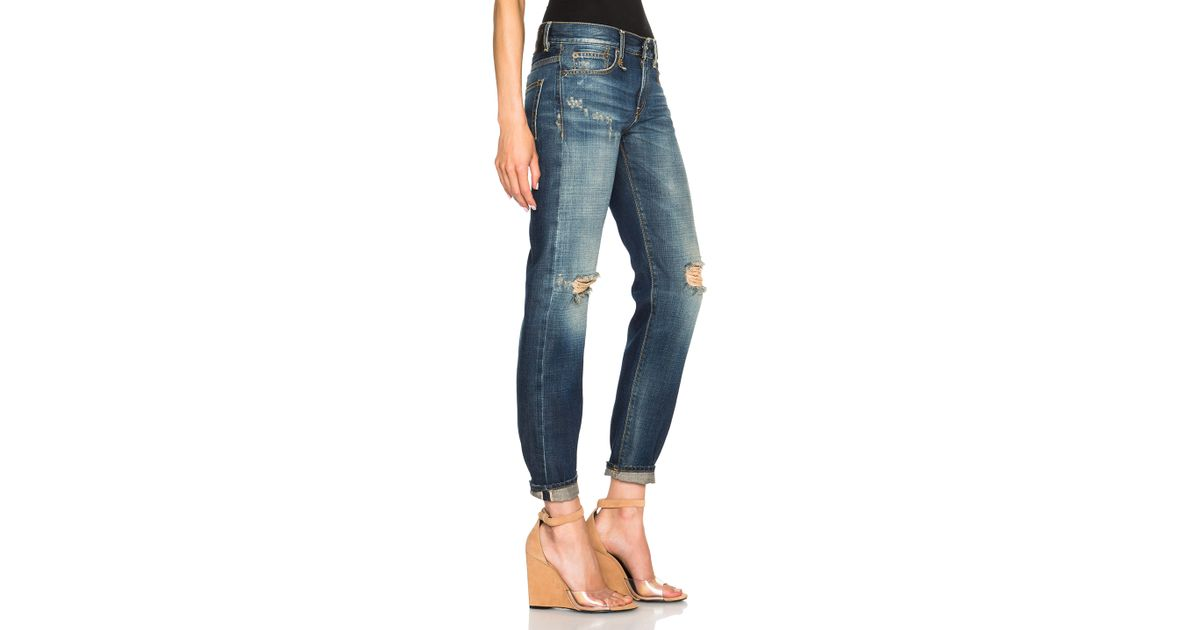 fc6b7520ccbbeb R13 Relaxed Skinny in Blue - Lyst