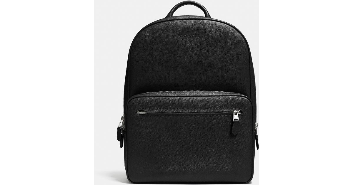 b8fb93817 COACH Hudson Backpack In Crossgrain Leather in Black for Men - Lyst