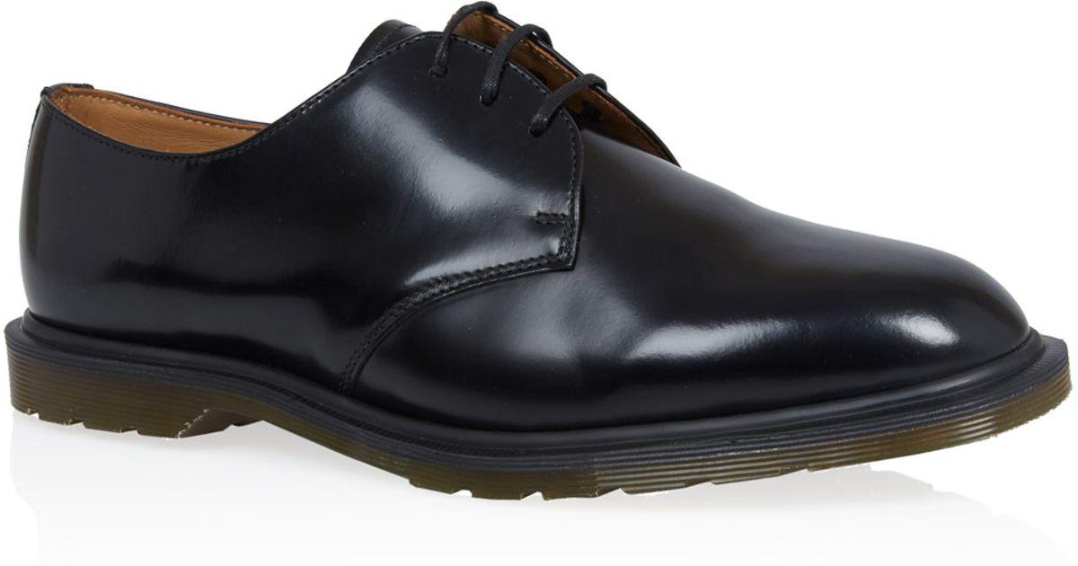 28a64af5c933c Lyst - Dr. Martens Black Steed Leather Derby Shoes in Black for Men
