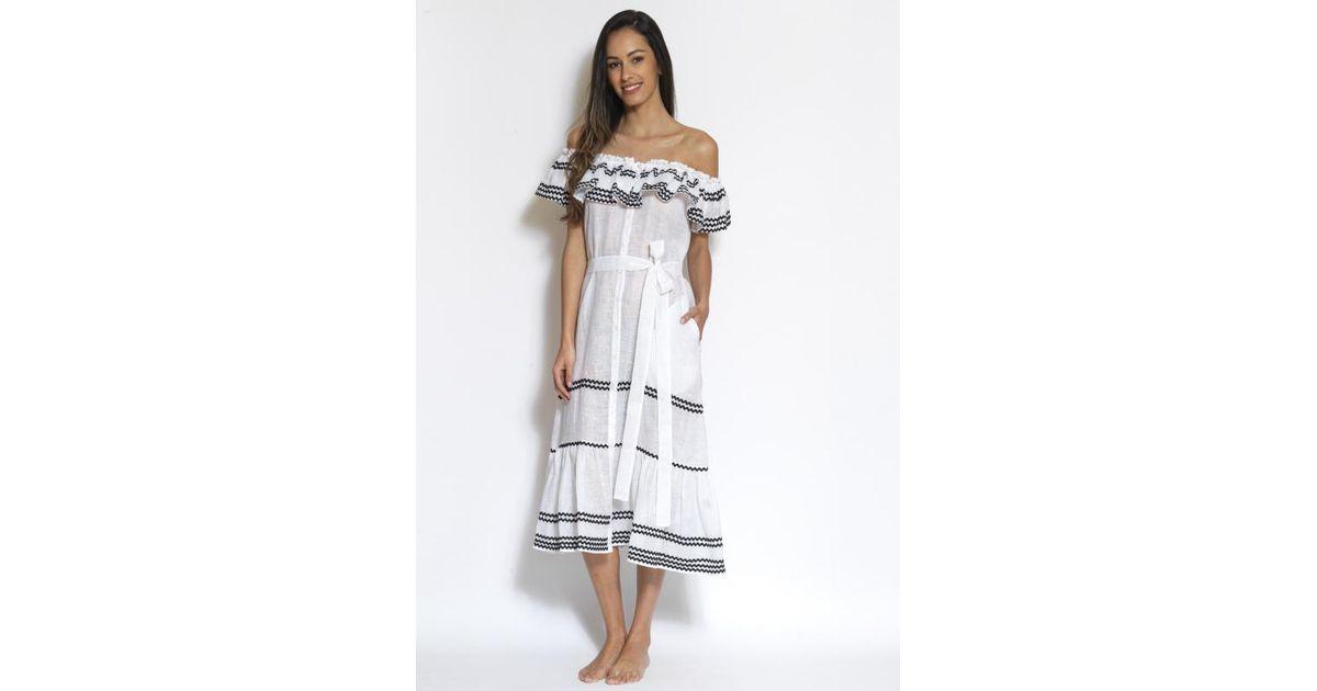 89037699ff Lisa Marie Fernandez Mira Ruffle Button Down Dress - Lyst