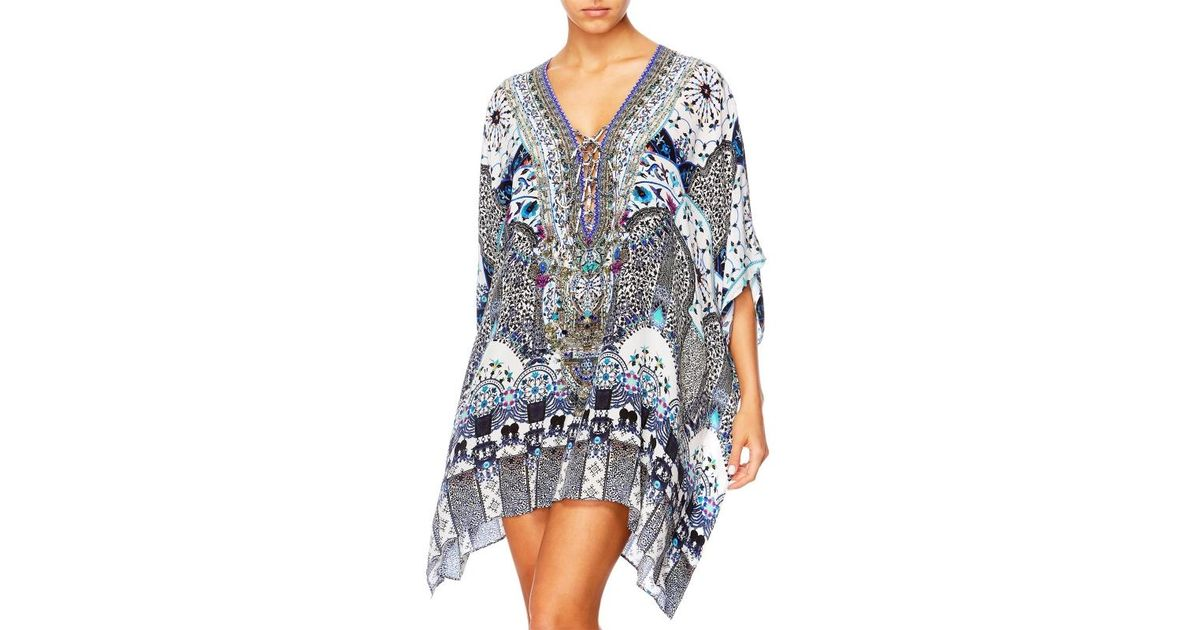 e0657a6410 Camilla In The Constellations Lace Up Kaftan in Blue - Lyst