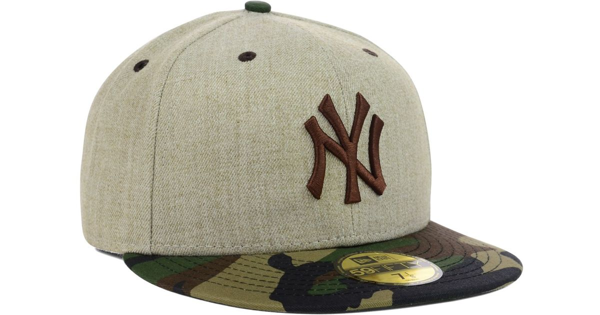 38d25c36f1a ... czech lyst ktz new york yankees heather mashup 59fifty cap in natural  for men 766f5 ec877
