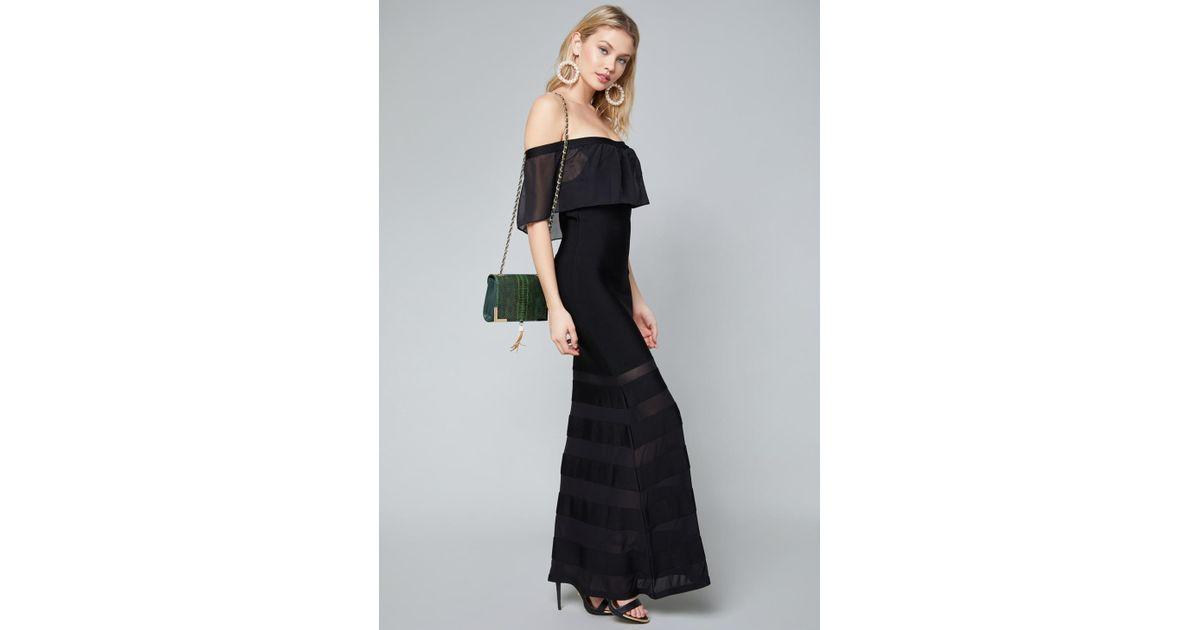 Lyst - Bebe Coletta Bandage Gown in Black