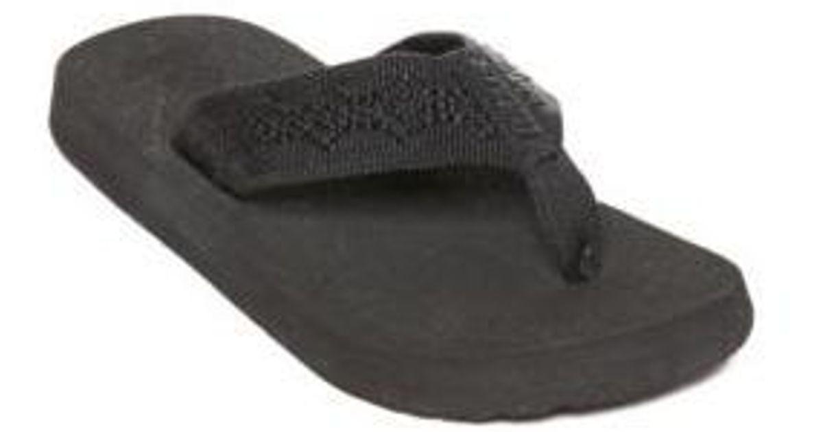 0e045276949c Lyst - Reef Sandy Flip Flop in Black for Men