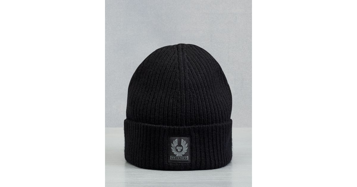 d0045a73 Belstaff Seabrook Knitted Hat in Black for Men - Lyst