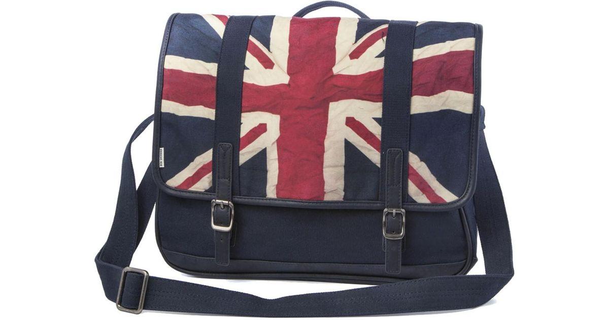 Ben Sherman Union Jack Canvas Messenger Bag in Blue for Men - Lyst 2122e3a45dc6f