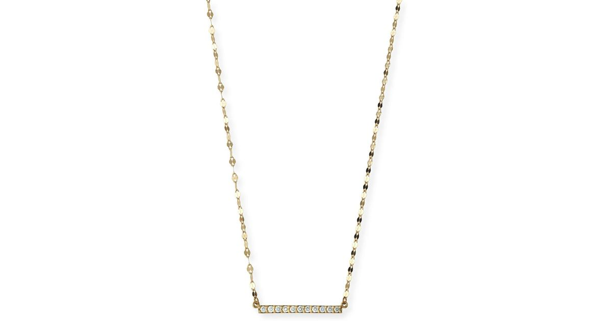 Lana Jewelry Diamond Bar Pendant Necklace 7ZSKglmR
