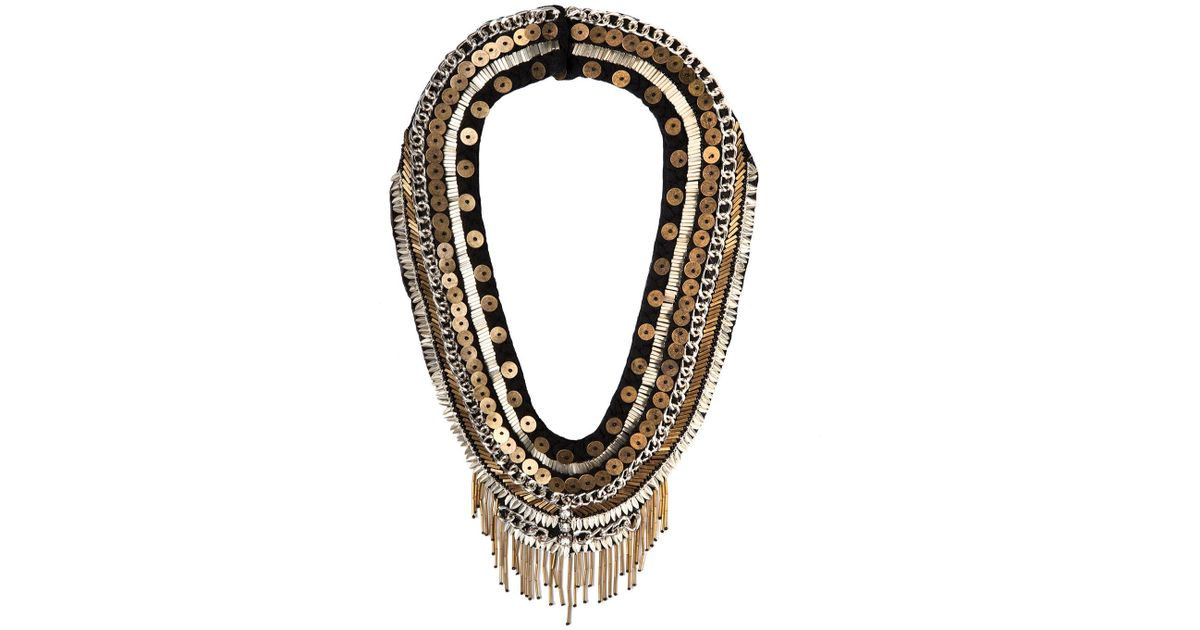 Mignonne Gavigan Layne Beaded Statement Necklace, Black