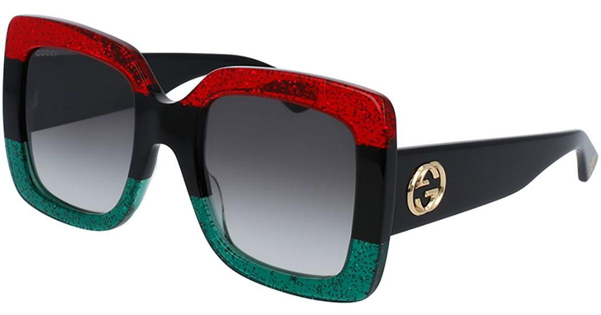 40a9523afb1 Lyst - Gucci Logo Sunglasses in Red - Save 16%