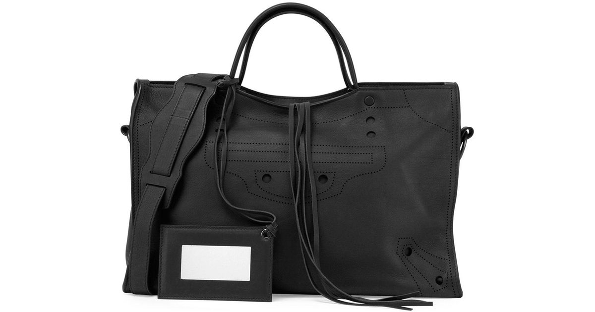 Bag Black Balenciaga In City Shoulder Lyst Blackout Aj N80wnmvO