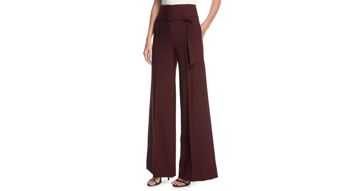 ffa82ec7d24 Theory High-waist Belted Wide-leg Pants - Lyst
