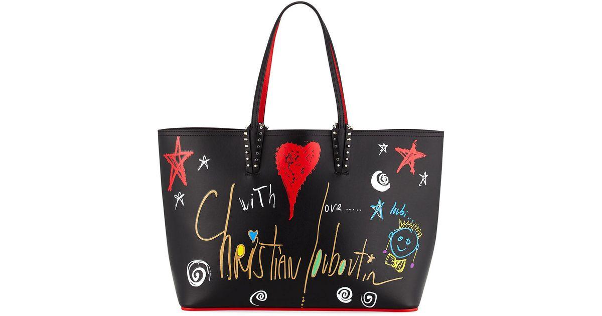 2face02530 Lyst - Christian Louboutin Cabata Calf Loubitag Paris Tote Bag in Black