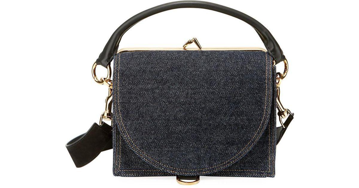 95ee2602a3 Loewe Amazona 28 Woven Denim Satchel Bag in blue multi – Loewe woven denim  satchel bag. Buy Denim Women Messenger Bags Casual Canvas ...