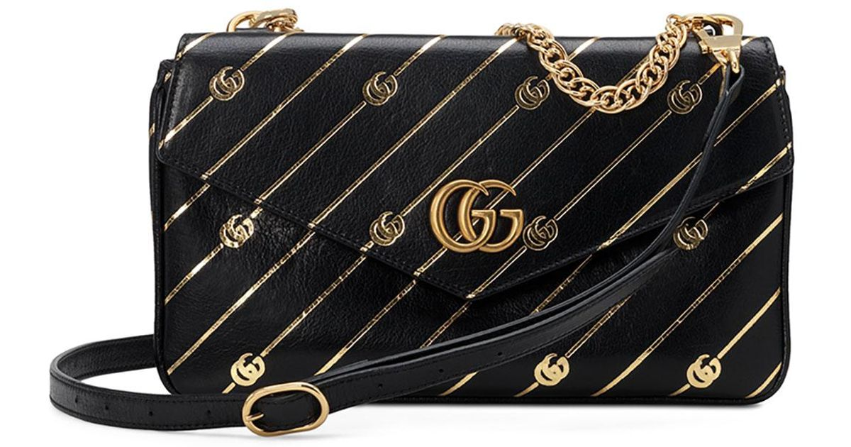 8c9e1a3c7bbf Gucci Thiara Medium Double Envelope Shoulder Bag in Black - Save 36% - Lyst