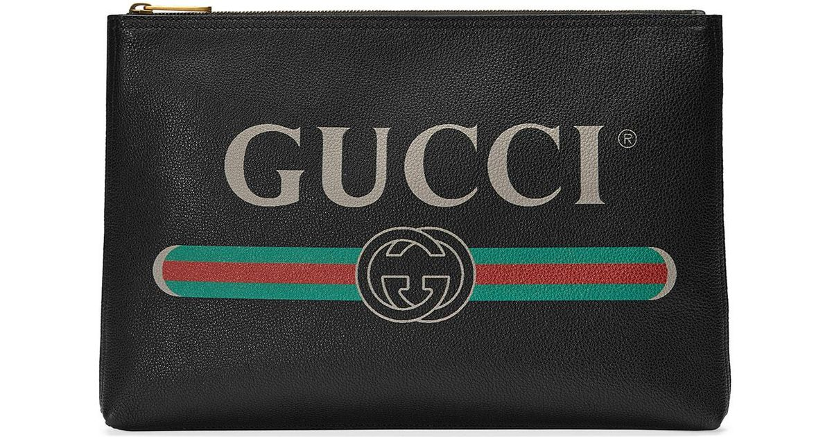 804602167cc5 Lyst - Gucci Leather Zip Pouch in Black for Men - Save 26%