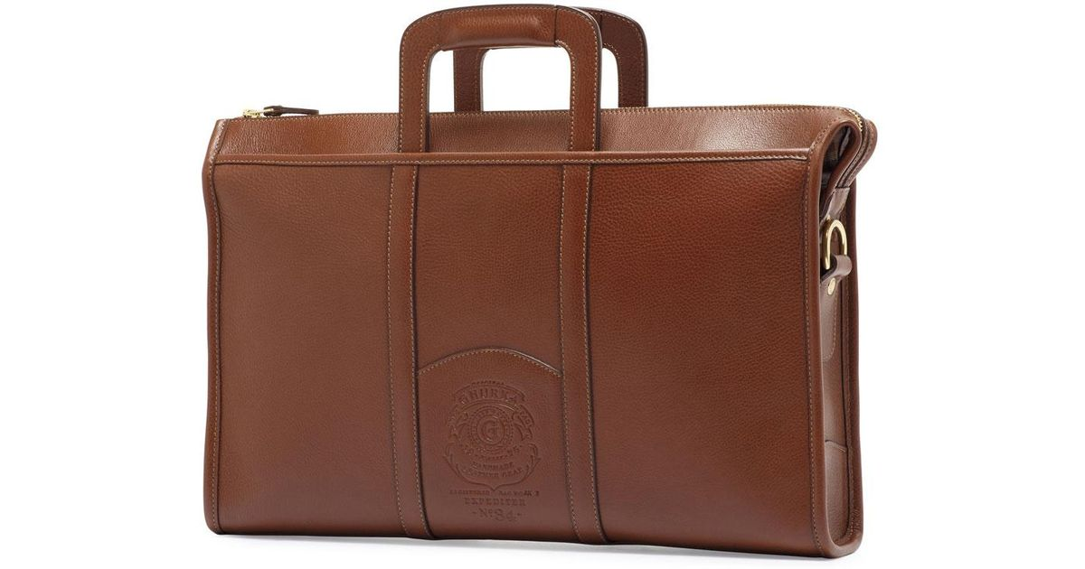 Chestnut Leather Attache Ghurka iT8BRdfq