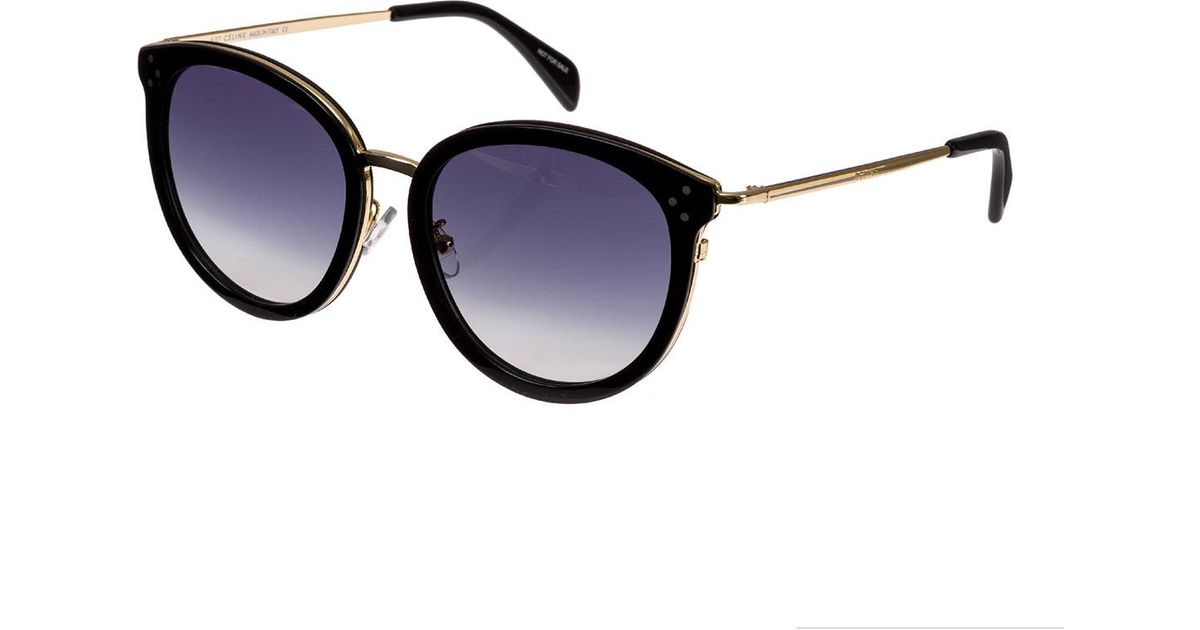 172672f04af Lyst - Céline Round Acetate   Metal Gradient Sunglasses in Black