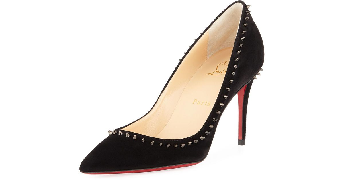 08516f33467 Lyst - Christian Louboutin Anjalina Suede Spiked Red Sole Pump in Red