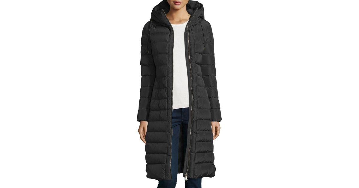 8cbac1d64 Moncler - Black Imin Long Quilted Puffer Coat - Lyst