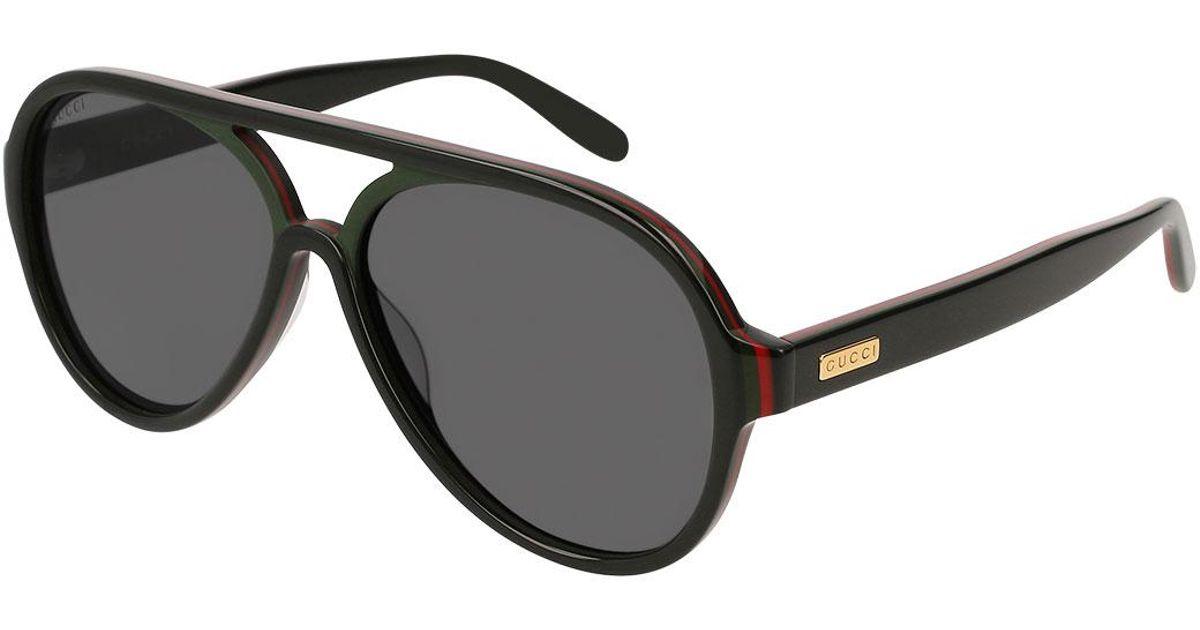 419fcf9692 Lyst - Gucci Men s Shield Acetate Sunglasses in Black for Men