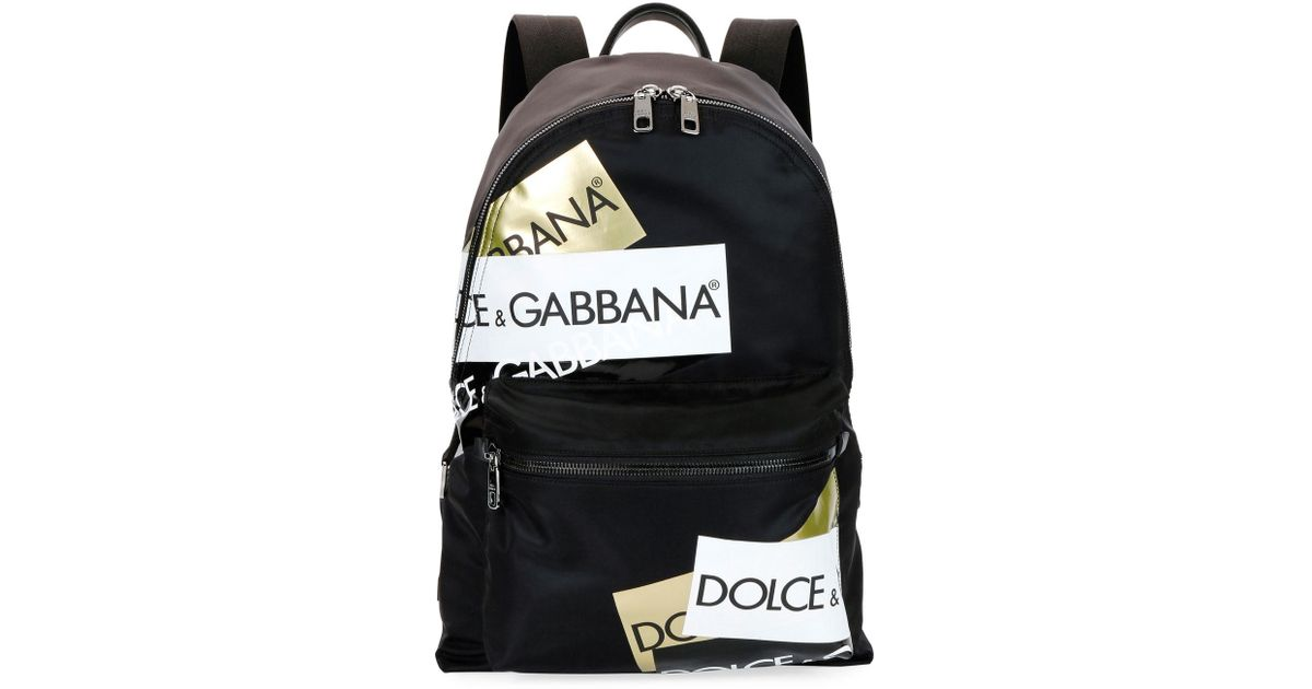 e29a09d2b Dolce & Gabbana Logo-print Backpack in Black for Men - Save 65% - Lyst