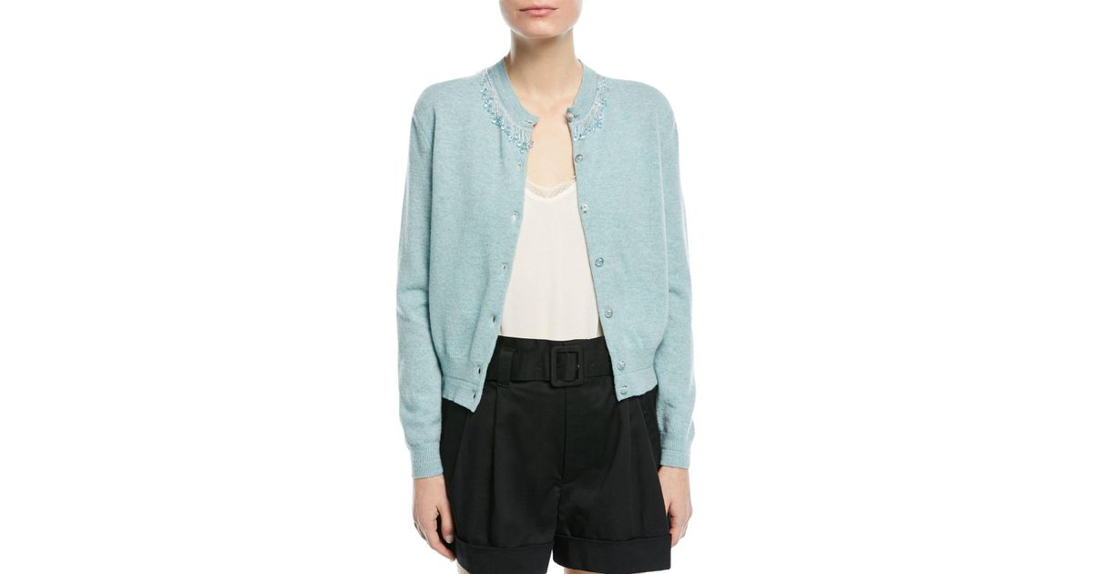 Beaded wool and cashmere cardigan Marc Jacobs Outlet Sast e5iCkXXL6z