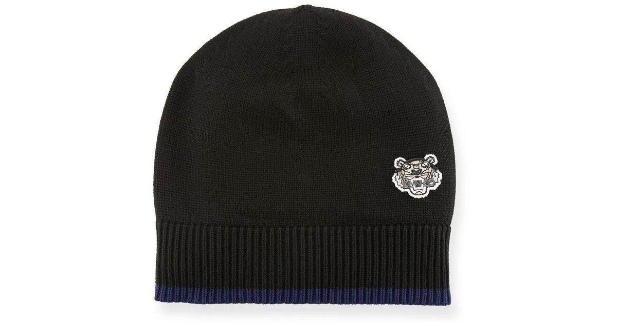 5369adfaa112e3 Lyst - Kenzo Men's Tiger Crest Wool Beanie Hat in Black for Men