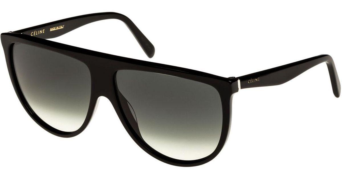 258f9bb773 Source · Lyst C line Flattop Gradient Shield Sunglasses in Black