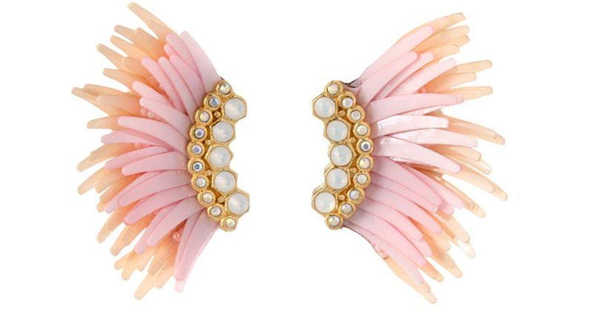 Mignonne Gavigan Lux Mini Madeline Earrings In Pink Lyst