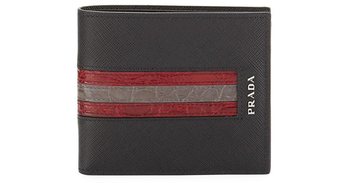6c8b1499 purchase prada saffiano leather bifold wallet e954a 875a0